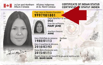 Example of Status Card with Registration